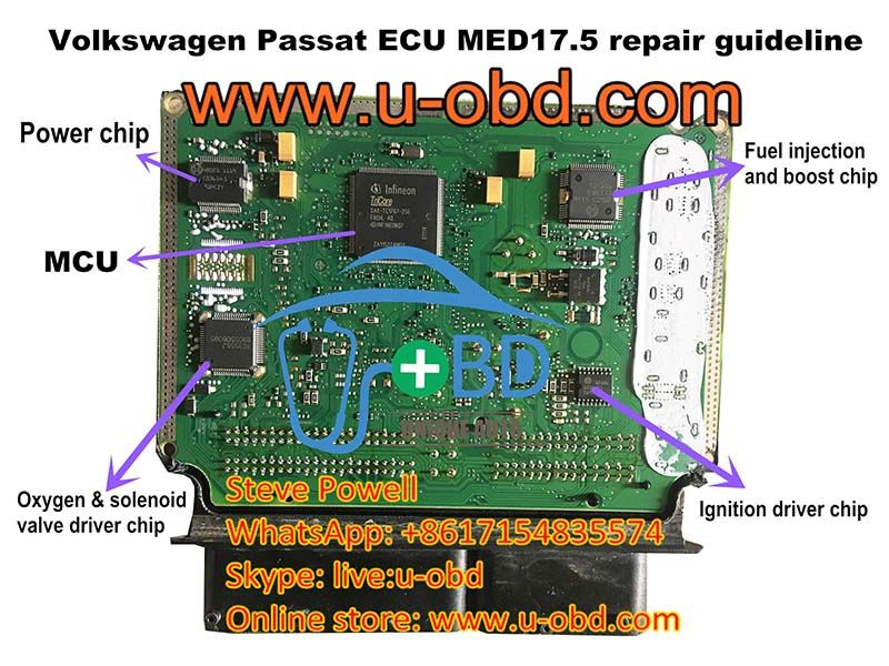 How To Repair Volkswagen Ecu Bosch Med17 5 Motronic Ecu Volkswagen Volkswagen Passat Repair