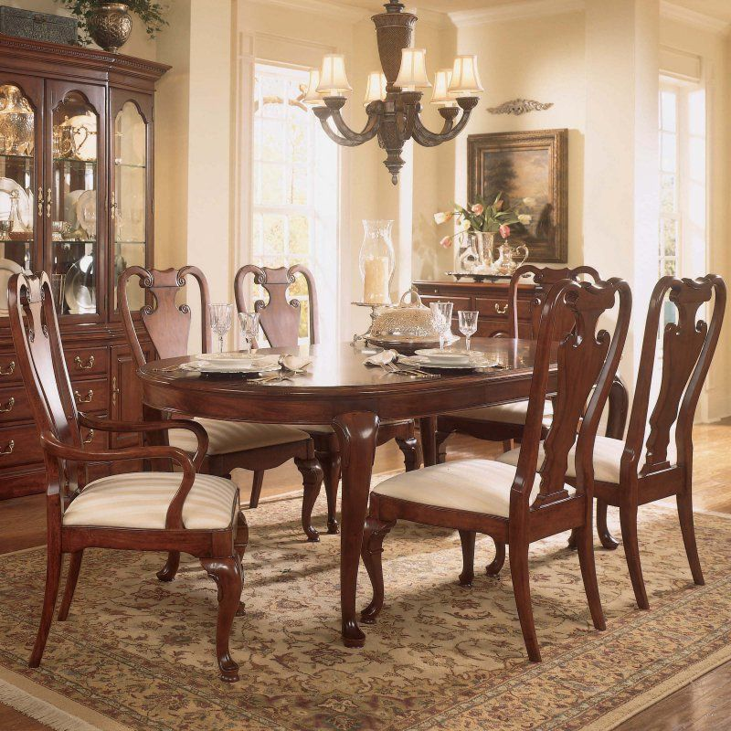 American Drew Cherry Grove 45Th 7 Pcoval Dining Table Set Fair Oval Dining Room Table Set Design Decoration