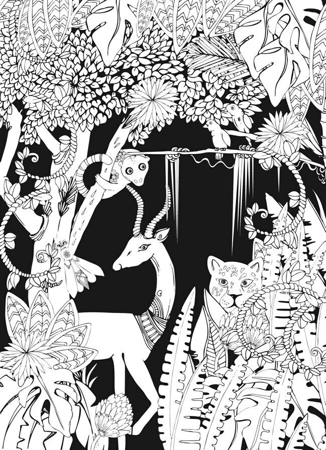 Pin By Jo De On Colouring Pages For Adults Jungle Coloring Pages Detailed Coloring Pages Coloring Books