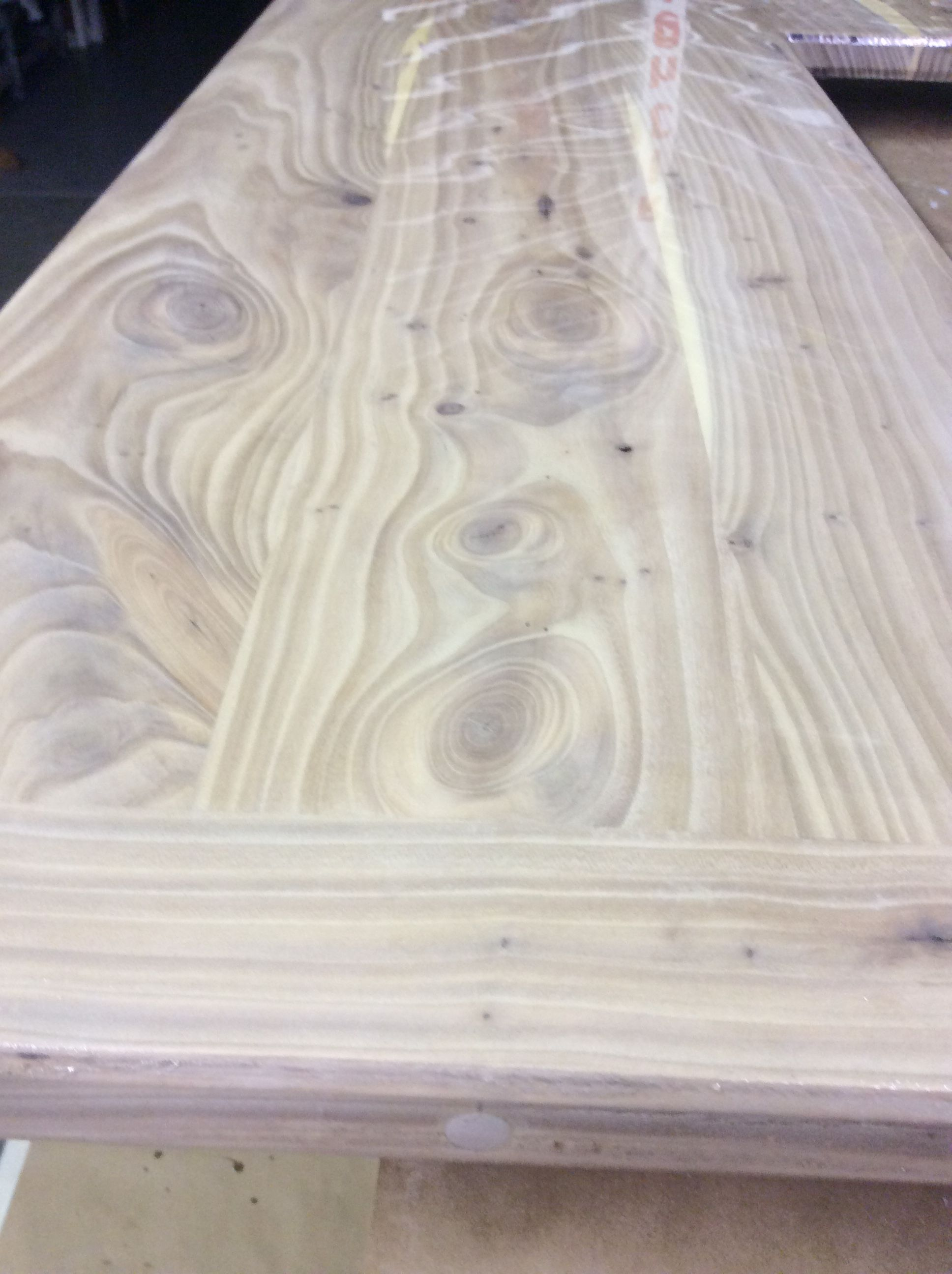 Counter top stained with Saman white wash  For the camp
