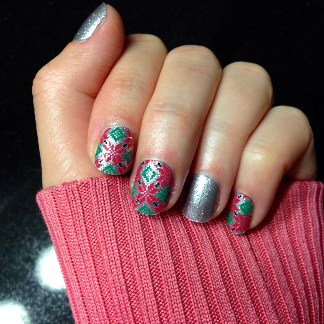 Poinsettia and Diamond Dust Sparkle jamberry nails ...