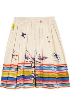 This beautifully printed, cotton skirt can easily take you from the weekend to the office.  #9to5Cotton