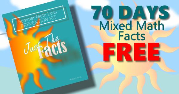 One sheet of Mixed Math Facts per day, keeps the Summer Math Loss at ...
