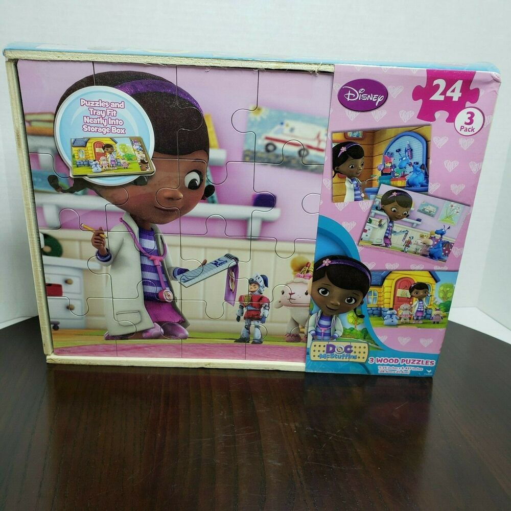 doc mcstuffins puzzle 4 x 24 pieces