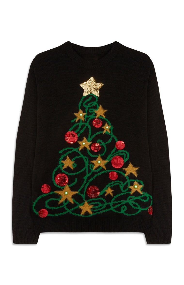 8fcfacdd77d Primark - Christmas Tree Light Up Jumper Light Up Christmas Jumpers