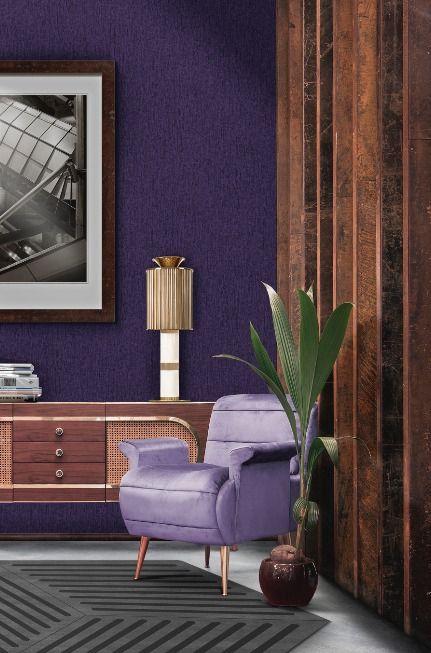 Einrichtung Ideen für die Wohnraumgestaltung in Ultraviolett Der