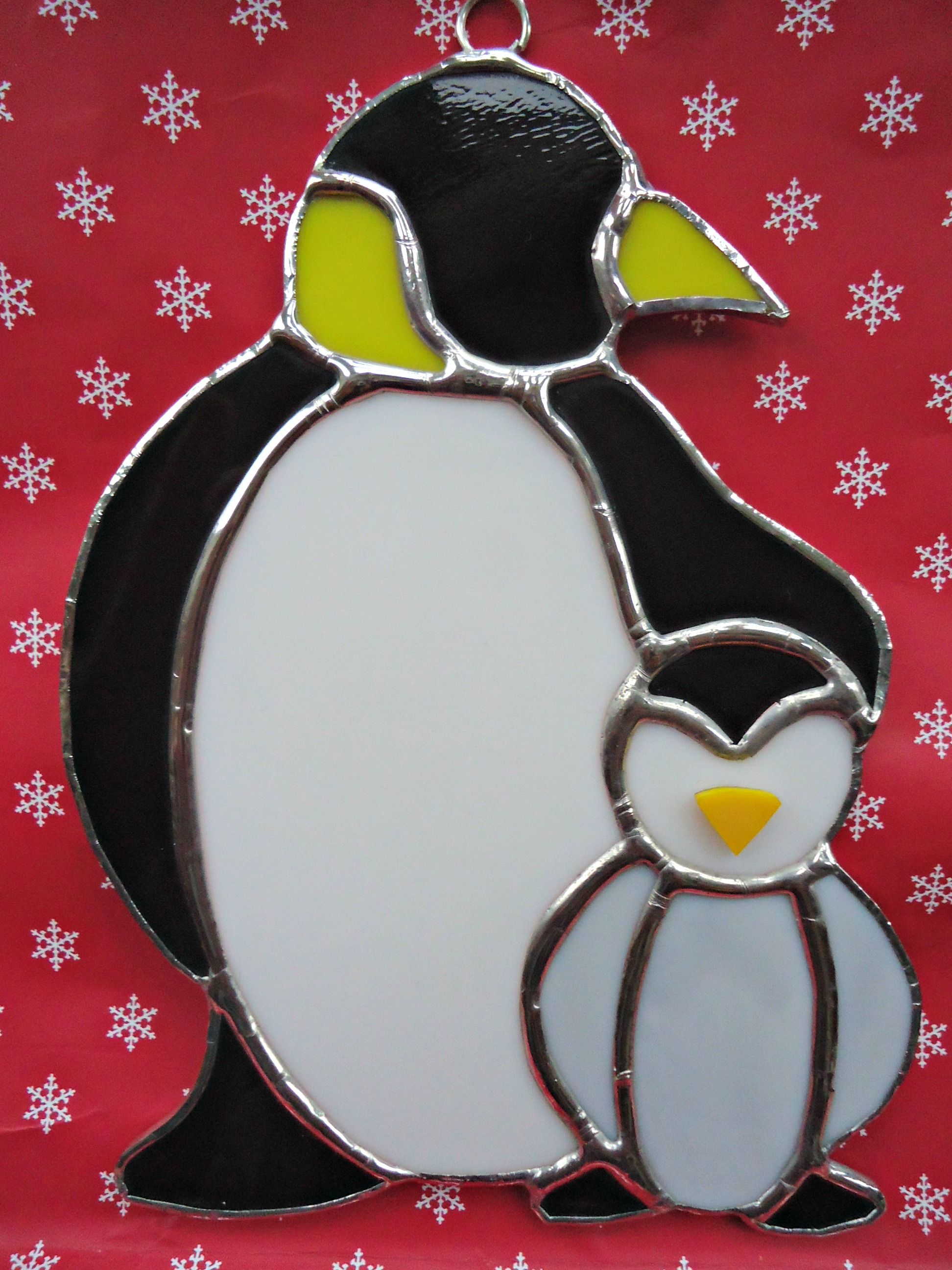 Stained Glass Penguins