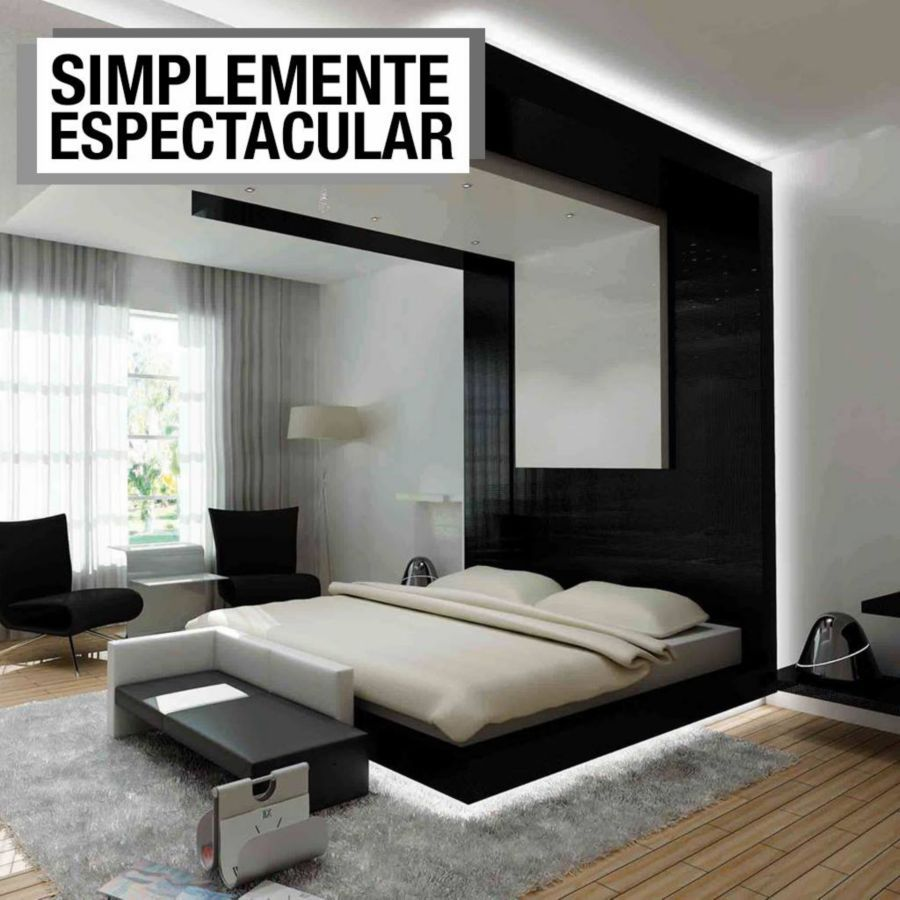 Best This Stunning Contemporary Black And White Bedroom Was 640 x 480