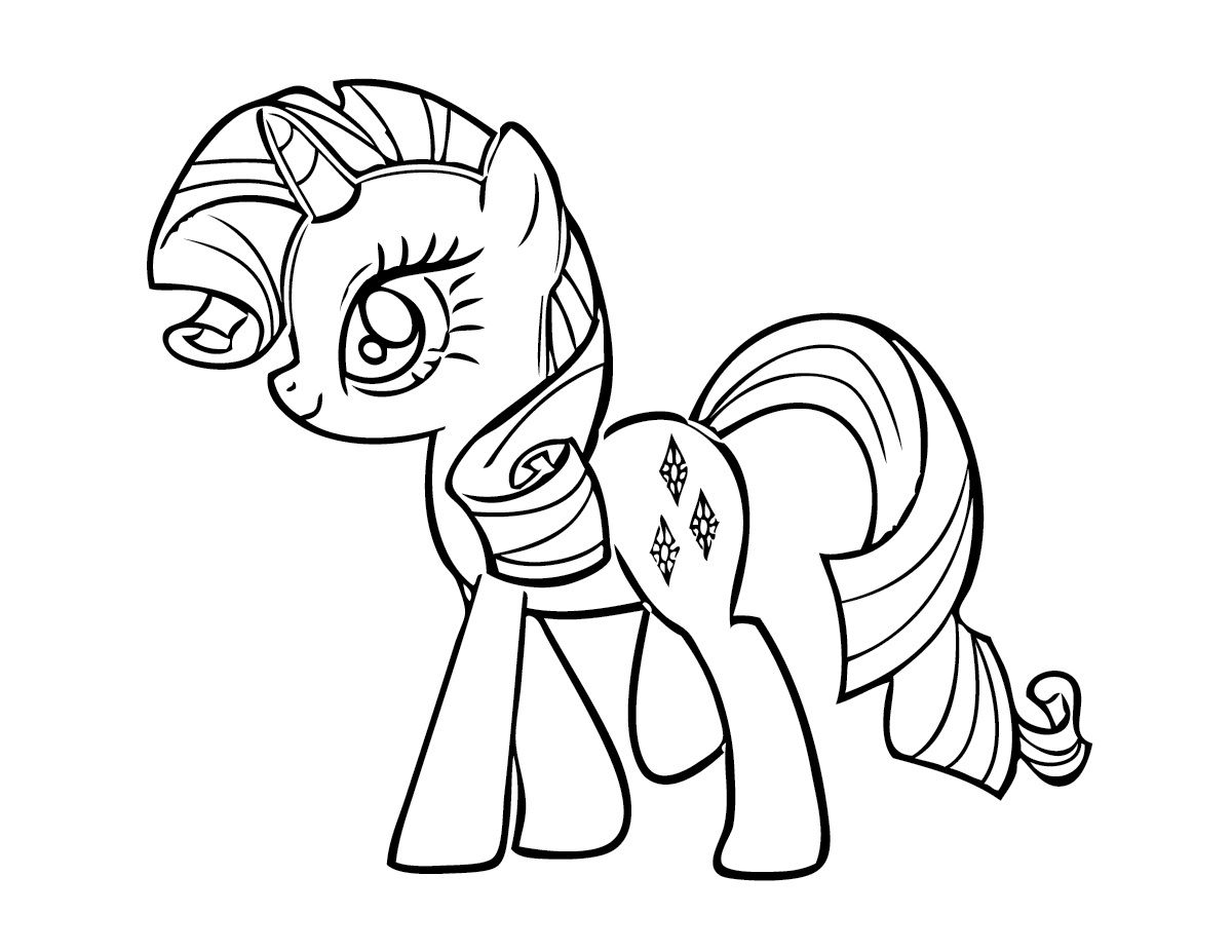 Free Printable My Little Pony Coloring Pages For Kids   Pinterest
