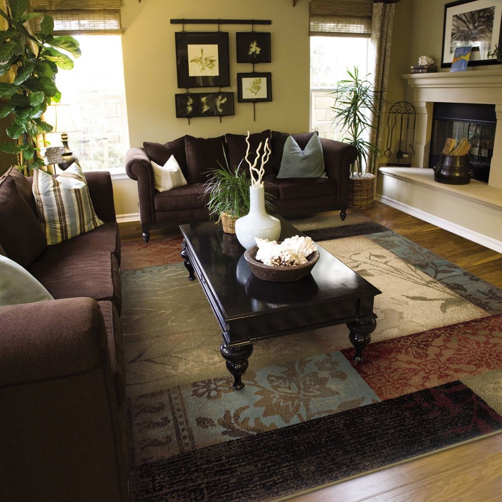 Complete the room with this contemporary rug featuring a ...