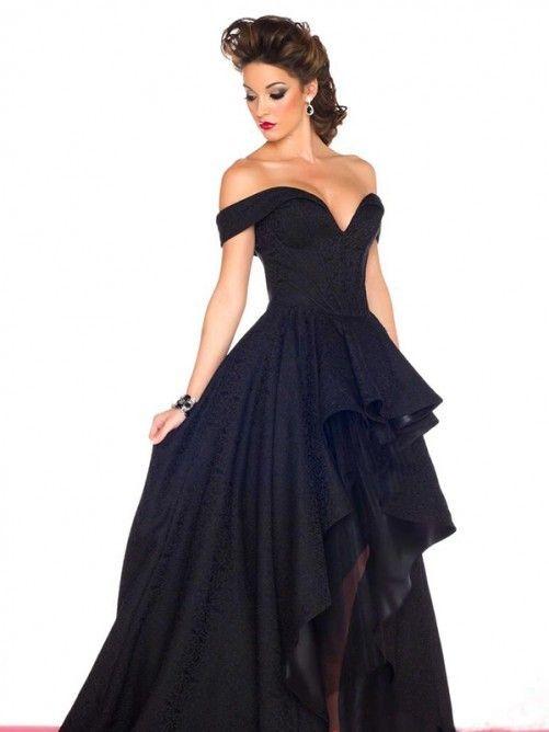 A Linie Princess Stil Carmen Ausschnitt Taft Kleider Kleider