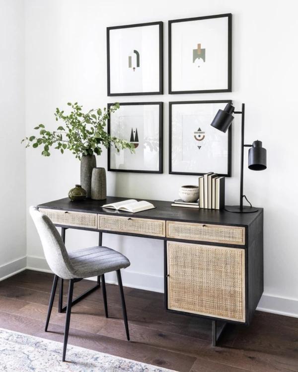 Ubud Desk Black Home Office Decor Home Office Space Interior