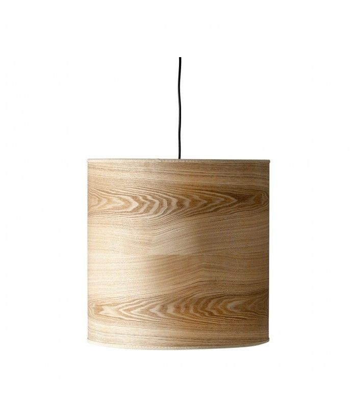Lmpara de techo redonda en chapa diseo madera deco Pinterest