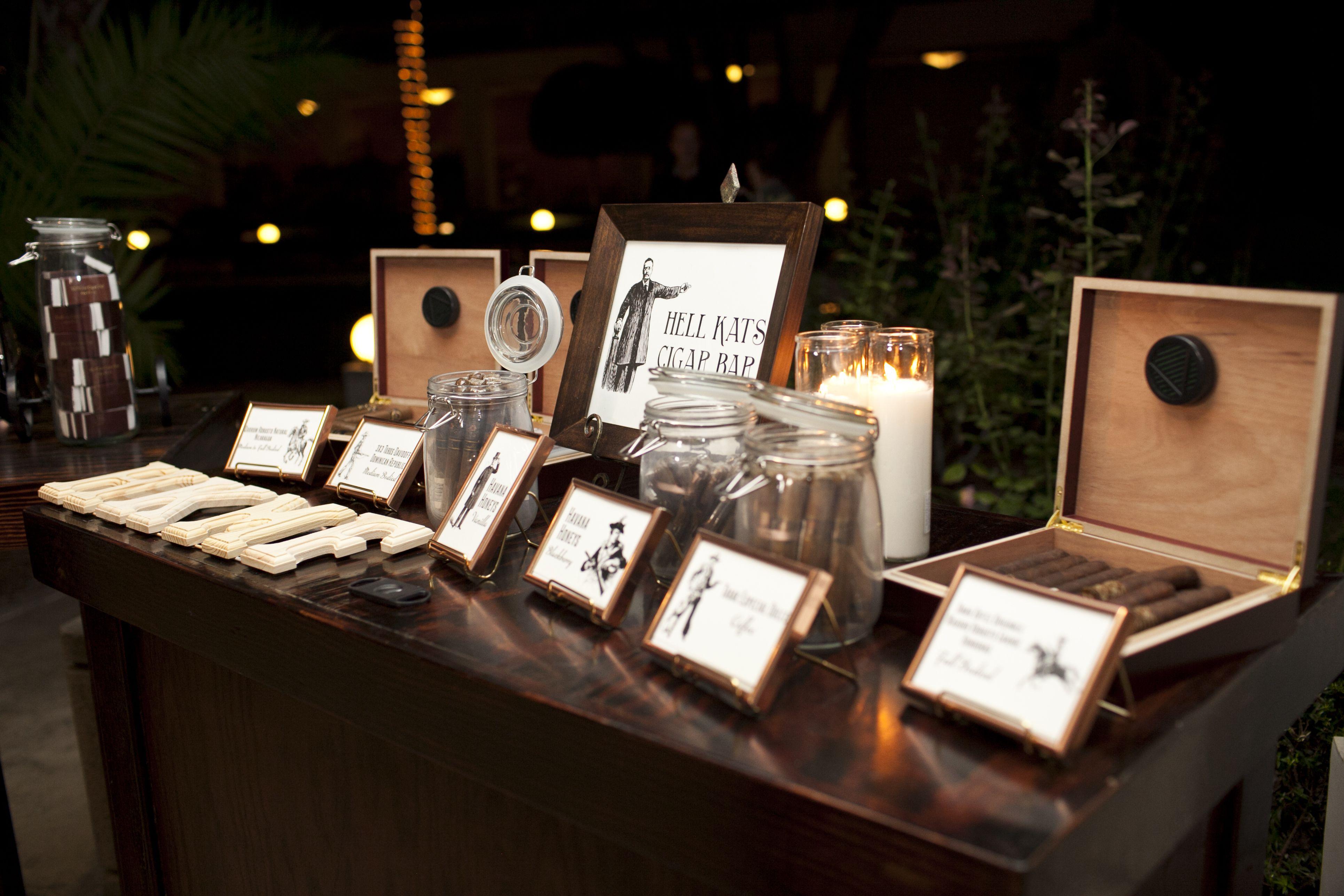 Cigar Bar for Wedding Guests | Wedding ideas | Pinterest | Wedding ...