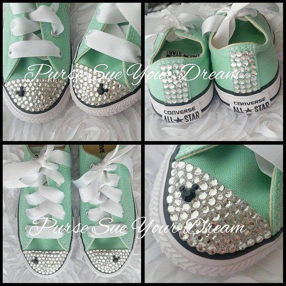 Minnie Mouse Crystal Rhinestone Converse Shoes - Minnie Mouse Birthday - Minnie  Mouse Disney Outfit 92954156b