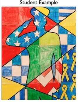 Patriotic Soldier Collaborative Poster: Popular Veterans' Day Activity #patriotsdaycraftsforkids
