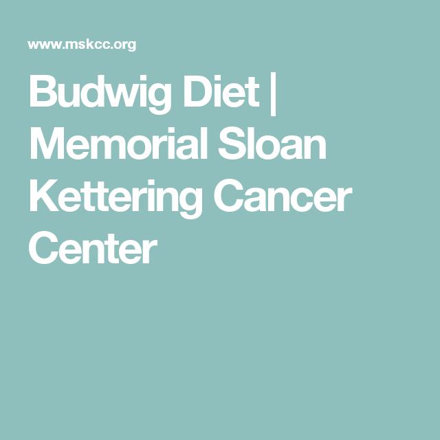 Budwig Diet | Memorial Sloan Kettering Cancer Center