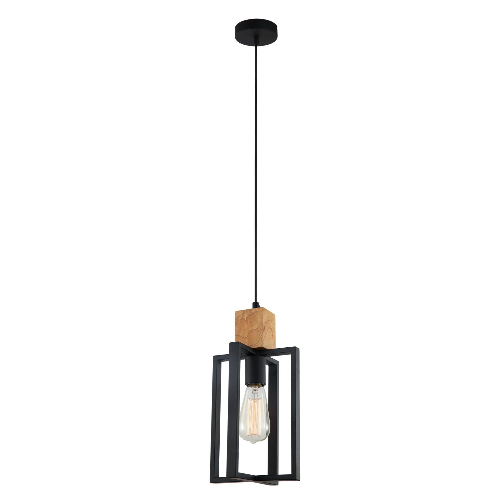 Lampada castelli black metal cross frame with timber top pendant lampada castelli black metal cross frame with timber top pendant light mozeypictures Image collections