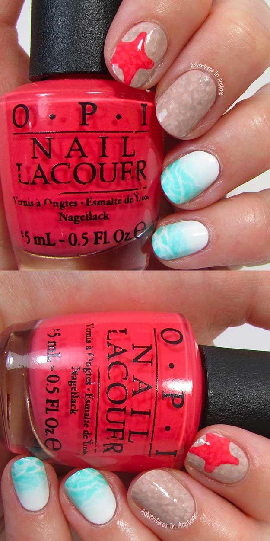42 Cool Summer Nail Art Ideas | Summer nail art, Short nails and ...