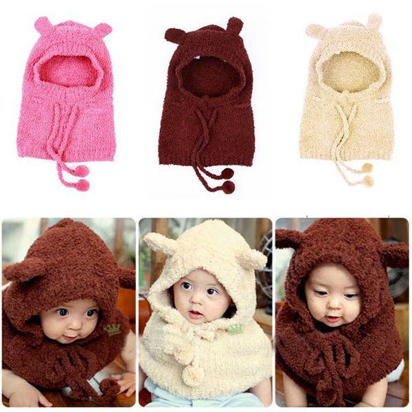 Cheap Cabrito del bebé del niño invierno cálido sombrero y capa ...