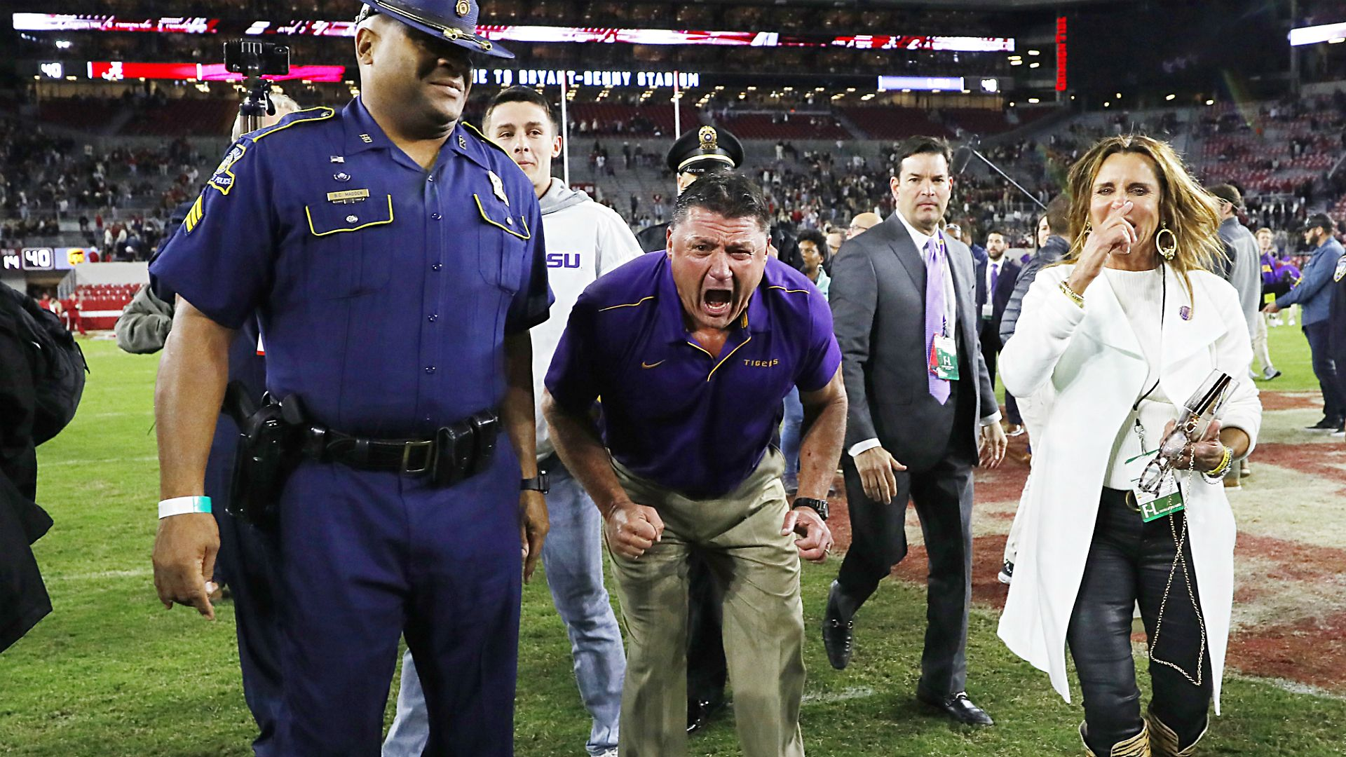 Lsu Coach Ed Orgeron Delivered A Profane Postgame Speech To His Team After The Tigers Won In Bryant Denny Stadium Lsu Football Lsu Tigers Football Lsu