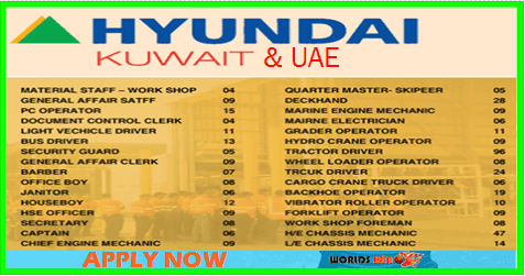 Jobs in Hyundai Engineering and Construction Co Ltd-UAE