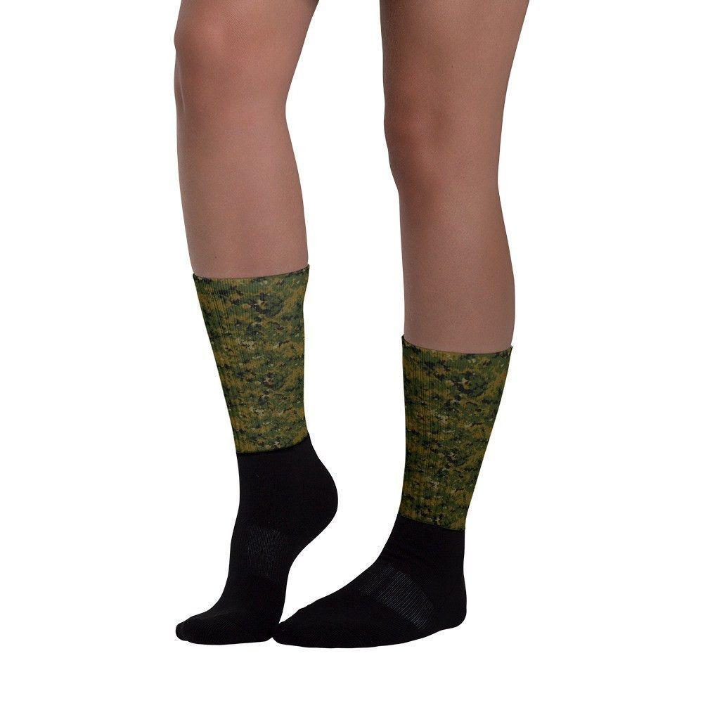 American USMC Woodland Digital CAMO Black foot socks
