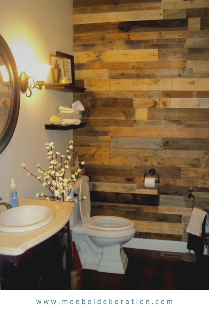 18 Interesting Diy Pallet Projects To Recreate Your Bathroom Pallets Palletprojects Diypallets Palletdecoration Decoratio Diy Pallet Wall Pallet Bathroom Home Decor Items