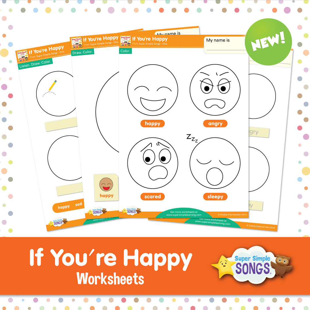 Worksheets Emotions Worksheets practice basic emotions with these free worksheets to go the super simple song