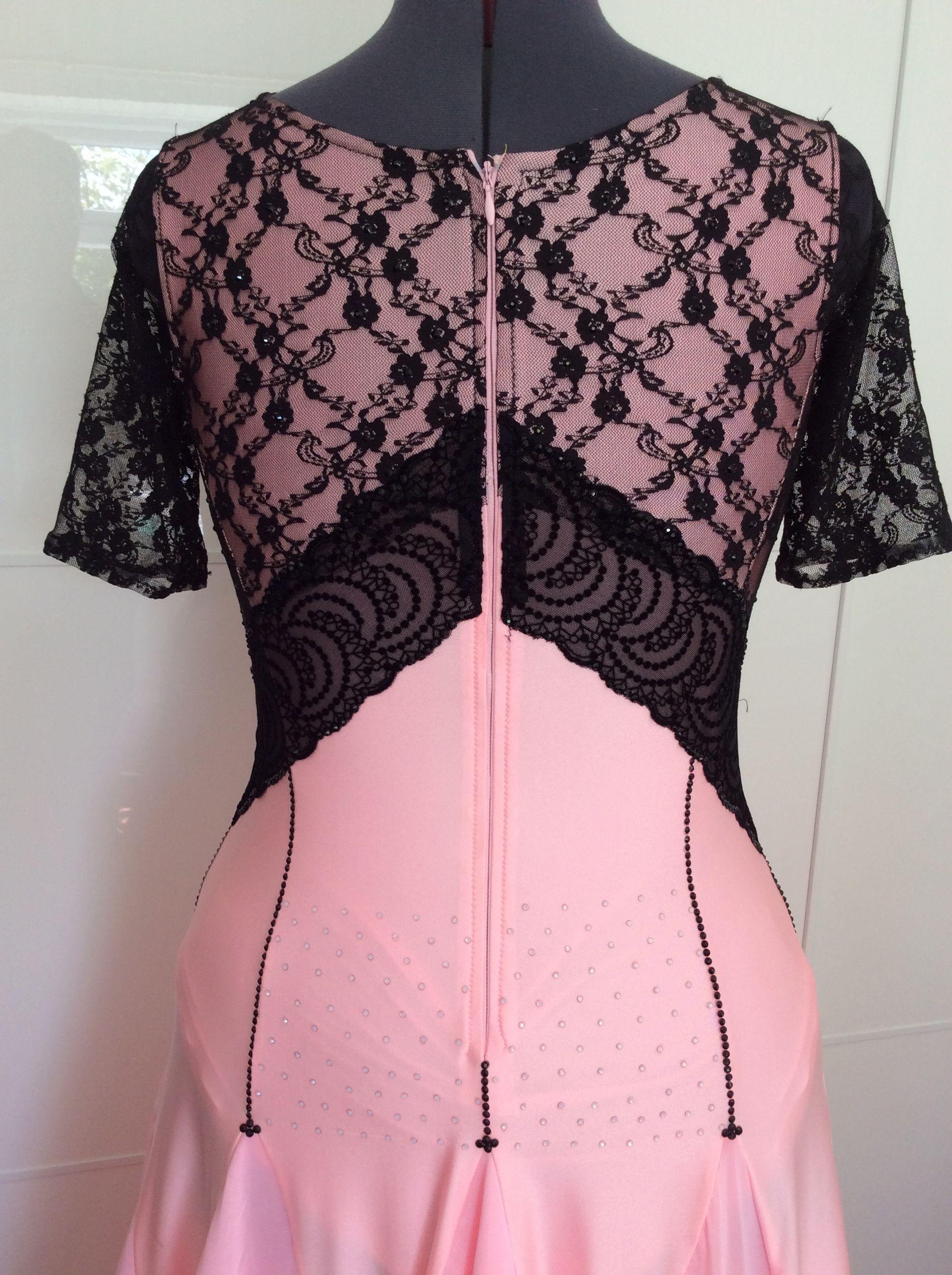 Pink see through lace dress  Pin by Amanda South on Blackpool  Ballroom Dress  Pinterest