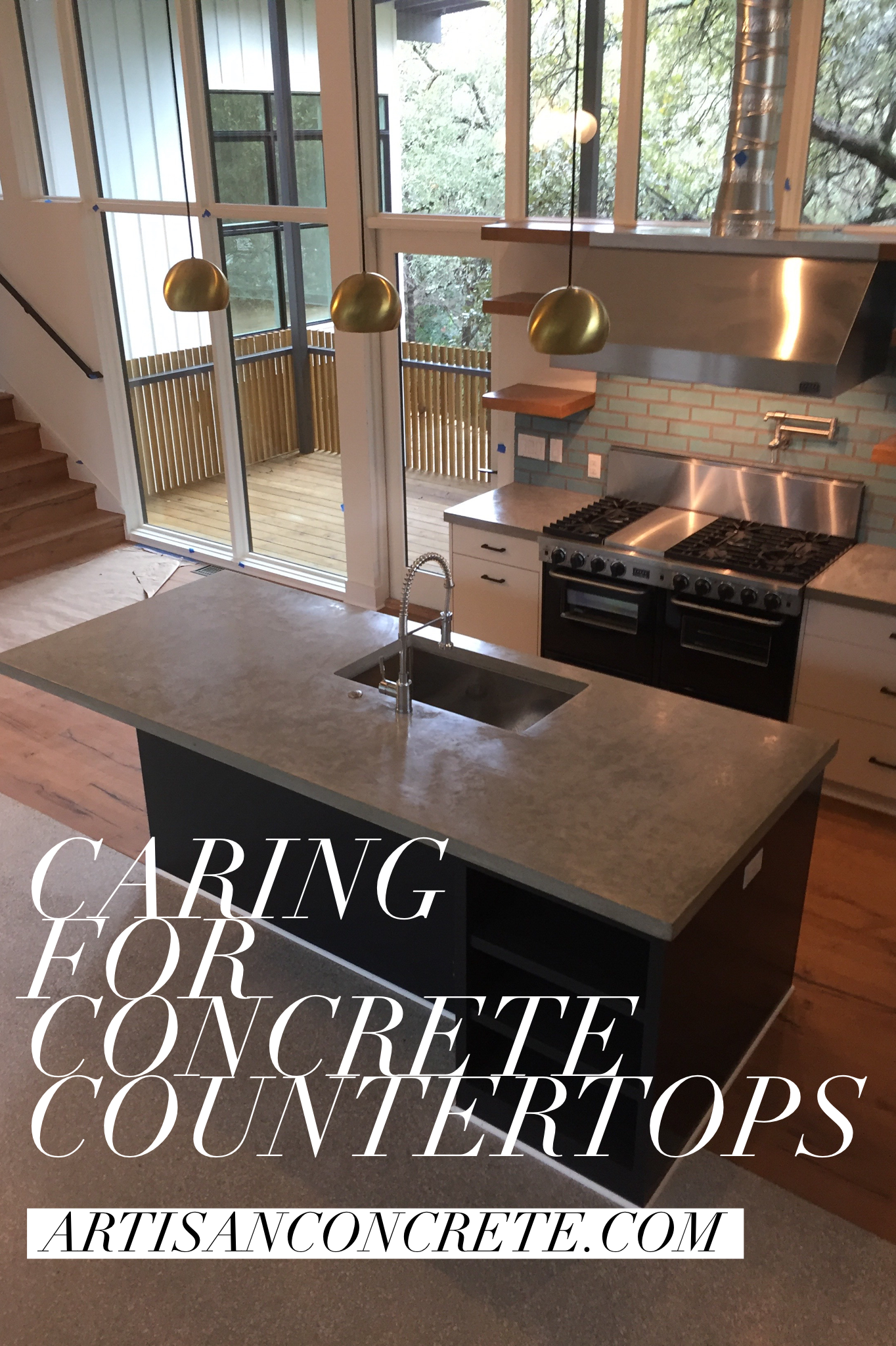 Restore Shine To Dull Concrete Countertops Or Learn How To Care For Your Newl Concrete Countertops Kitchen Diy Concrete Countertops Making Concrete Countertops