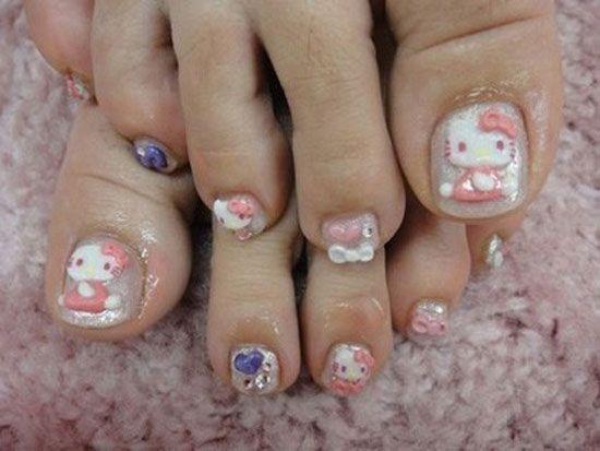 20 Cute Hello Kitty Nail Art Designs Supplies Stickers 21 Hello