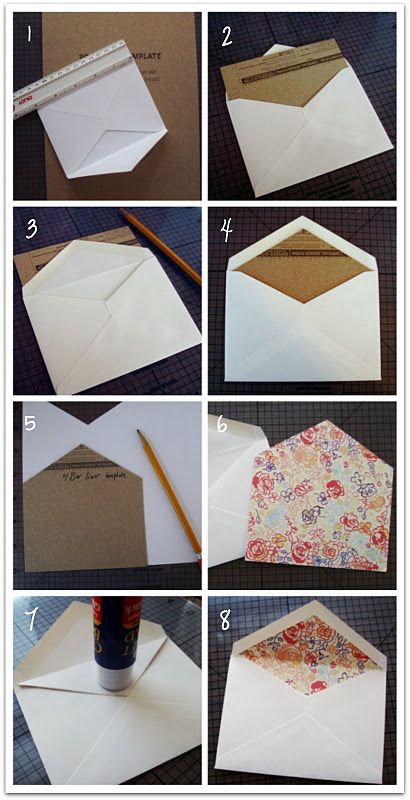 How To Line Your Own Envelopes Diy To Save Money Been Doing This For Years So Much Fun And Easy Too Diy Envelope Cards Handmade Card Envelopes