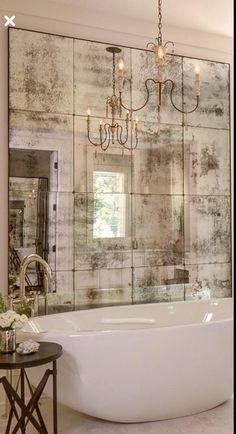 10 Fabulous Mirror Ideas To Inspire Luxury Bathroom Designs - Espejo-salon-moderno