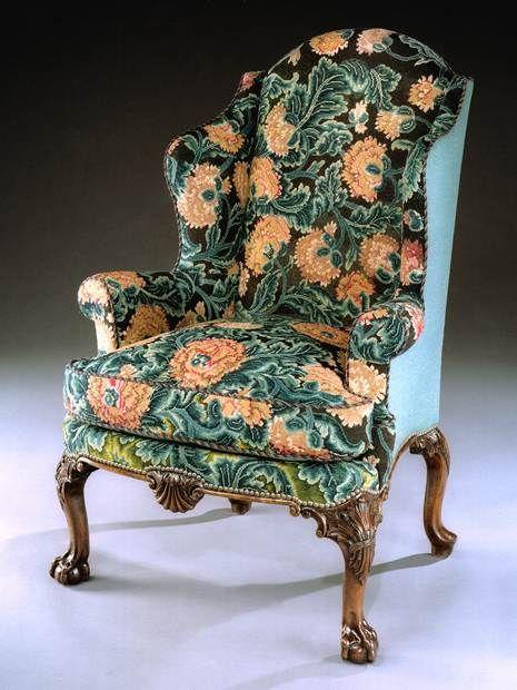 An Extraordinary George Ii Walnut Wing Armchair Winged Armchair Antique Armchairs Fine Antique Furniture