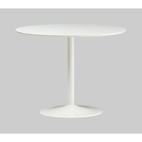 Odyssey White Dining Table In View All Furniture CB Small Tulip - Cb2 tulip table