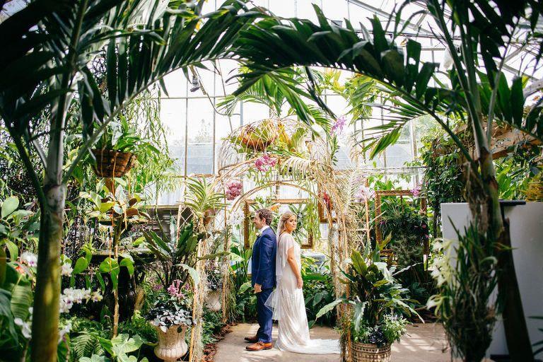 Luxurious Red And Pink Sarasota Garden Wedding Marie Selby Botanical Gardens Botanical Gardens Wedding Garden Wedding Venue Garden Wedding