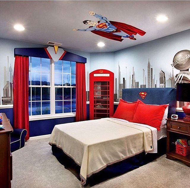 Superman Themed Bedroom: A Super Cool Superman Themed Room! Via @tollbrothers