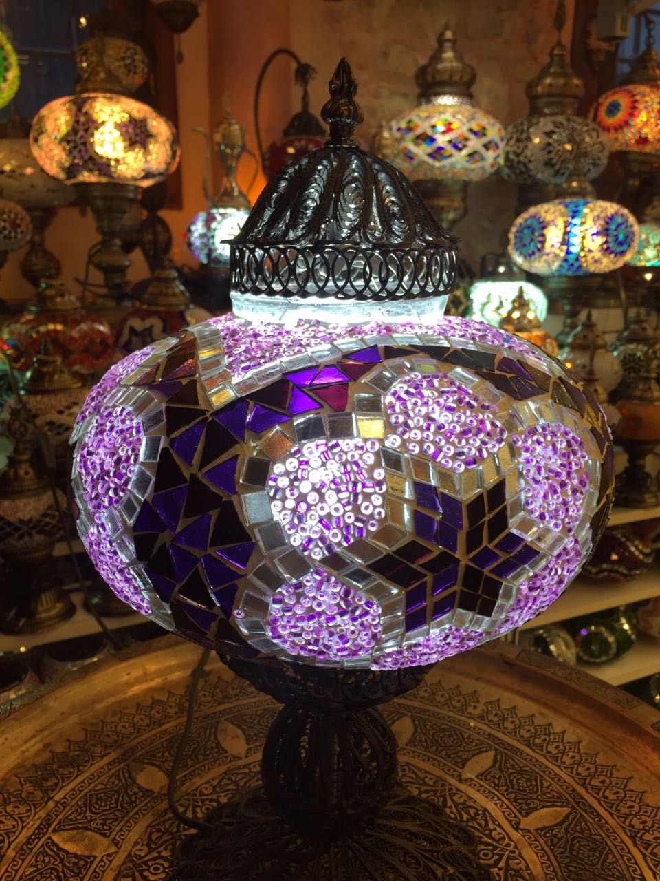 Turkish mosaic table lamp unique design christmas pinterest desks turkish mosaic table lamp aloadofball Images