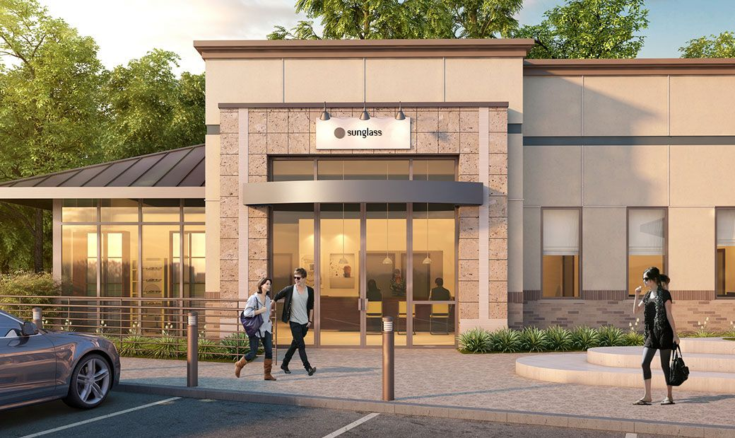 GKW Architects | Build It Green | Commercial | Building | Medical Center | Store Front | Exterior Rendering | Stucco