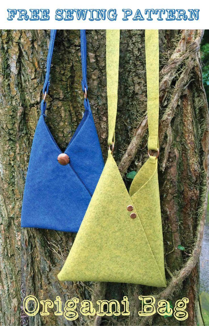 Make an Origami bag - Free sewing pattern | Rucksäcke