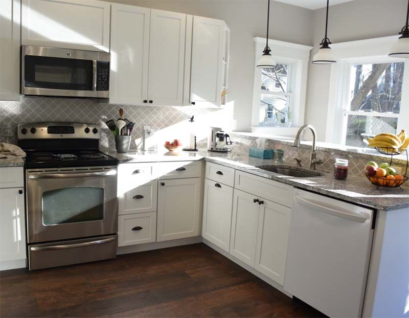 Best Kitchen With White Cabinets Wood Grain Porcelain Tile 640 x 480