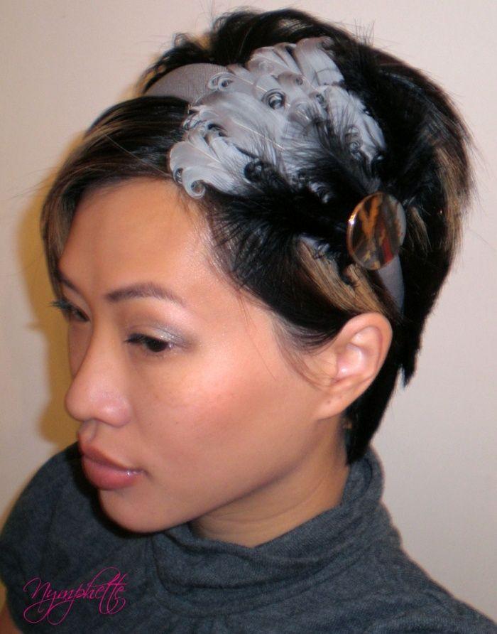Short Hair With Headbands Feather Headbands Short Hair