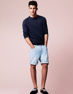 sweater, shorts simplicity at its best