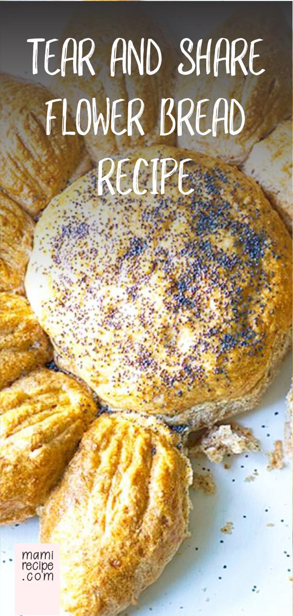 Tear And Share Flower Bread Recipe #tearandsharebread