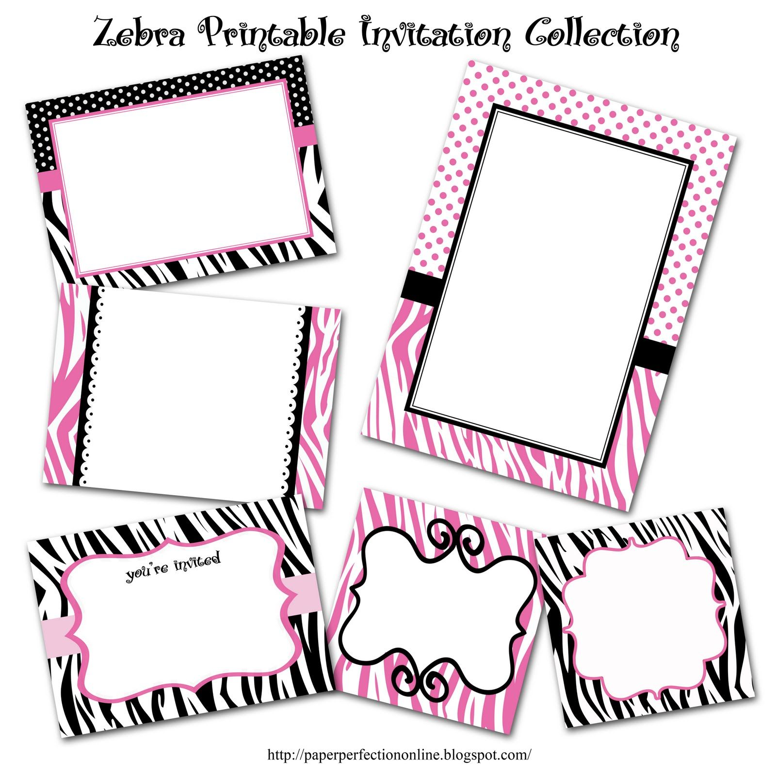 Paper Perfection: Zebra Print Party Printables | Projects to Try ...