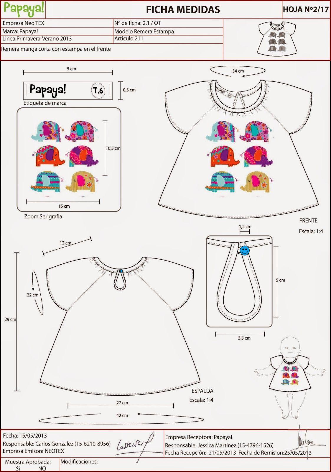 FICHAS+TP+NIÑOS talla6meses   Patronaje Infantil   Pinterest   Baby ...