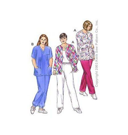 Kwik Sew Pattern Womens Top /XL-XXXXL