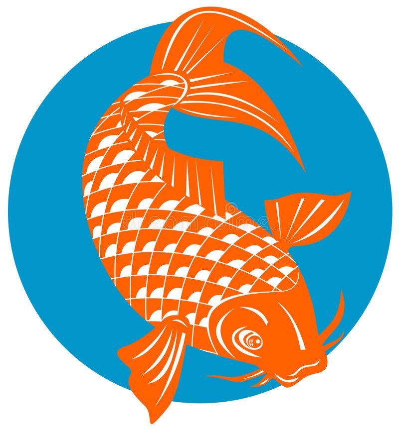 Koi Carp Vector Art Of A Koi Carp Isolated On White Ad Vector Carp Koi White Isolated Ad Koi Carp Koi Fish Koi