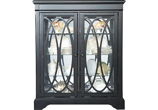 Cindy Crawford Homeseaside Black Curio China Cabinets